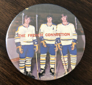 Vintage Buffalo Sabres French Connection Button Pinback Perrault Martin Robert
