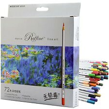 Colored Pencil Set by Marco 72 Colors Pre-Sharpened for Sketch Fine Art Drawing