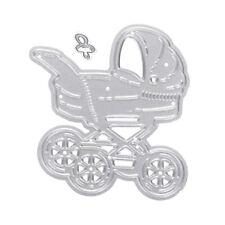 Carbon Steel Baby Stroller Soother Cutting Dies Scrapbooking Stencils Pretty