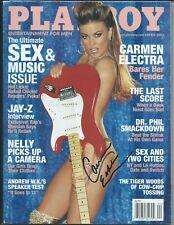 Carmen Electra Autographed Hand Signed Playboy Magazine  COA