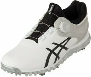 ASICS Golf Soft Spike Shoes GEL-ACE PRO5 BOA 1111A180 White Black With Tracking