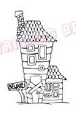 Stamping Bella Unmounted Rubber Stamp - BEWARE HOUSE - SP104 HTF