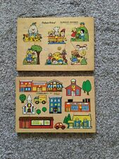"Two Vintage 1970's Fisher Price Pegged ""Peek"" Puzzles"