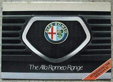 ALFA ROMEO AUTO GAMMA BROCHURE DI VENDITA giugno 1983 ALFETTA SPRINT 6 GIULIETTA GTV6