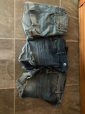 Lot Of 3 Women's Jean Shorts Size Small