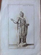 CAMILLUS PUER CAMILLO acquaforte Originale XVIII secolo  tavola LXVI