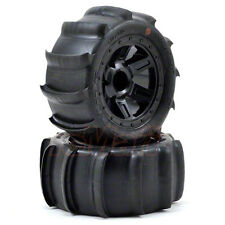 PRO-LINE Sling Shot 2.2 Sand Tires Desperado Black Wheels 1:16 E-Revo #10101-10