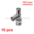 10 Pieces BNC Male to 2 x BNC Female Connector T-Shaped