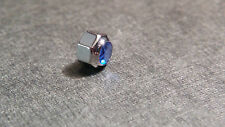 Cartier Crown, S/S with Blue Sapphire, NEW model approx 4.6mm diameter