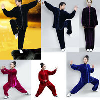 Adult Unisex Chinese Kung Fu Tai Chi Uniforms Martial Arts Training Suit Clothes