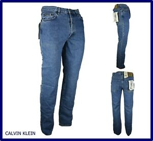 jeans calvin klein da uomo regular fit a gamba dritta dritti vita alta w31 44