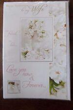 Wedding Anniversary Card To my Wife friend Love blossom design FREE UK 1st CLAS