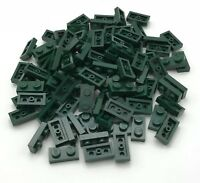 Lego 100 New Dark Green 1 x 2 Dot Plates Pieces