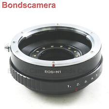 Canon EOS EF mount lens To Nikon 1 mount Adapter J1 V1 J2 V2 Adjust Aperture