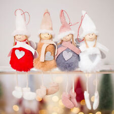 Christmas Tree Pendants Christmas Angel Plush Doll Toy Ornaments Home Decoration