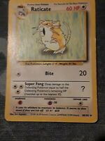 Raticate 40/102 1st Edition Shadowless Base Set Pokemon Card ~ Played