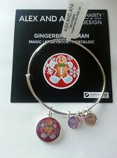 ALEX AND ANI GINGERBREAD MAN BANGLE BRACELET SILVER FINISH ** SOLD OUT ** NWT