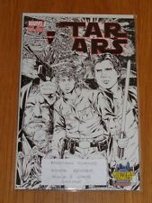 STAR WARS #1 MARVEL MIDTOWN COMICS MARK BROOKS B&W VARIANT NM (9.6 OR BETTER)