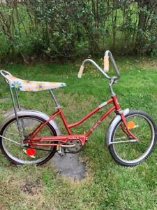 ☆1970's Vintage maroon Girls Ross Polo bike jr. Banana Seat Stingray all orig.