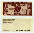 United Airlines Free Drink Coupon Air Currency Expired Cocktail Beer Headset