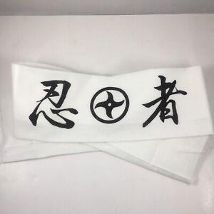Japanese Hachimaki Ninja Headband Tenugui Cloth Hand Towel 忍者 Crest JAPAN MADE