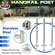 More details for 90cm /110 cm stainless steel balustrade railing post mid corner end metal fence
