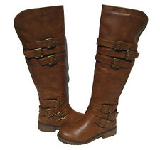 New Women's Riding Boots Tan Over the Knee Shoes Winter Snow Ladies size 6