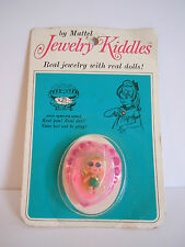 Vintage 1967 Mattel Liddle Jewelry Kiddles # 3741 Heart Pin Brooch Mint On Card