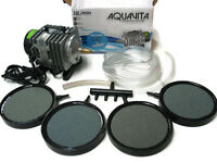 500 Gal Commercial Aquarium Air Pump, Air Stones, 20ft Tubing Combo
