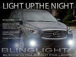 Xenon Halogen Fog Lamps Driving Lights kit for 2013 2014 2015 Infiniti JX35 QX60