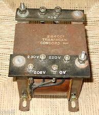 TRAN/SCAN Transformer 0.5KVA 50/60Hz Primary 208,220,230 Secondary 60VAC 284001