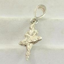 Vintage Sterling Silver Ballerina Dancer Charm for Bracelet or Pendant 925 Z-047
