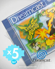 5 BOITIERS PROTECTION PROTECTIVE CASE (SUREMBALLAGE) DREAMCAST DC 0,4 mm NEUFS