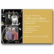 10 Personalised Party Photo Invitations 50th Golden Wedding Anniversary M206