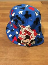 Mickey Mouse Disney Hands Blue Sun Bucket Hat Baby Toddler NWT 100% Cotton