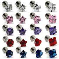 Zircon Monroe Labret Stud Lip Ring Ear Cartilage Tragus Helix Piercing Earring