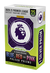 2020-21 Panini Prizm Premier League Cereal/Blaster 25 Cards + 3 Exclusive Prizms