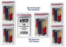 UCO Stormproof Matches 10pk Lot of 50 w/Strikers Waterproof & Windproof
