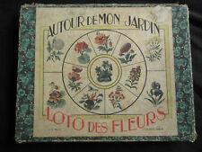 ancien jeu de loto des fleurs autour de mon jardin n°270 début XX ème
