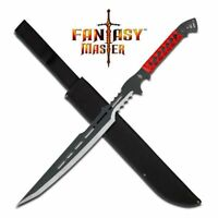"""NEW! 28"""" Stainless Steel Red Guardian Full Tang Fantasy Sword w/ Sheath"""