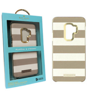 Kate Spade Saffiano Leather Case Samsung Galaxy S9+ Clocktower Cement Stripe
