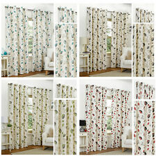 April Floral Eyelet/Ring Top Lined Readymade Curtain Pairs By Hamilton McBride