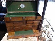 Antique H. Gerstner & Sons 11 Drawer Model 052 Oak Machinist Tool Chest