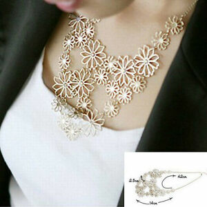 Women's Gold Plated Dainty Flower Floral Cut Out Fashion Necklace