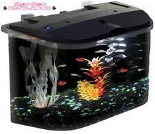 5 Gallon Acrylic Desktop Fish Tank Aquarium Filter Kit LED Lights Home Reef Pet
