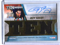 TNA Jeff Hardy 2012 TENacious GOLD Triple Relic Autograph Card SN 79 of 80