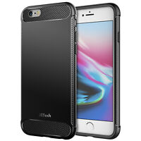 JETech Case for Apple iPhone 6s iPhone 6 Shock-Absorption Carbon Fiber Cover