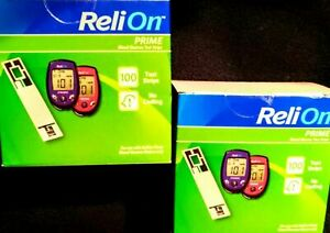 200 Count ReliOn Prime Blood Glucose Test StripsEXP. MAY/2022 FREE SHIPPING USA