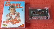 ROY CHUBBY BROWN CASSETTE TAPE - OBSCENE AND NOT HEARD