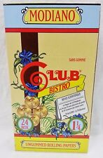 24 Packs Full Box 1 1/4 Club Modiano Bistro Cigarette Rolling Papers 79mm
